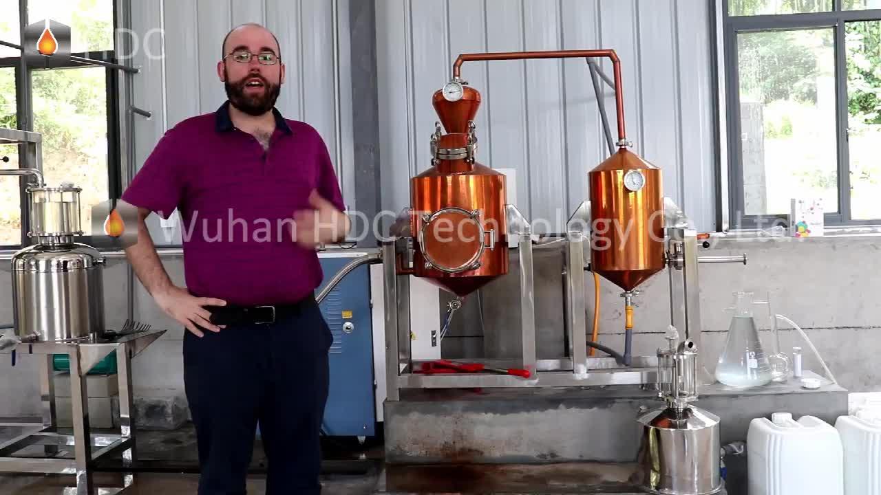भाप तुलसी citronella नीलगिरी संयंत्र थाइम राल प्रेस भाप आसवन आवश्यक तेल निष्कर्षण मशीन