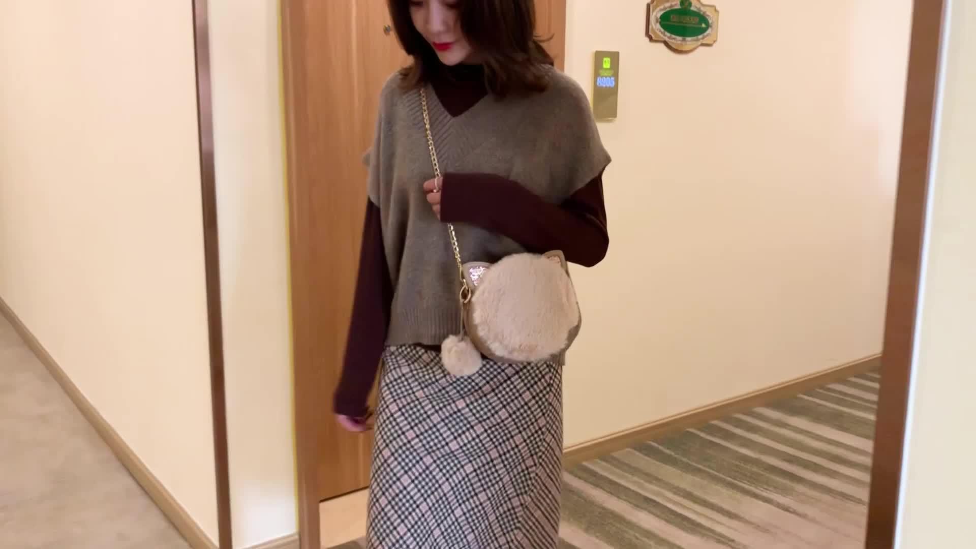 New winter plush bag ladies sling bag  wool felt bag