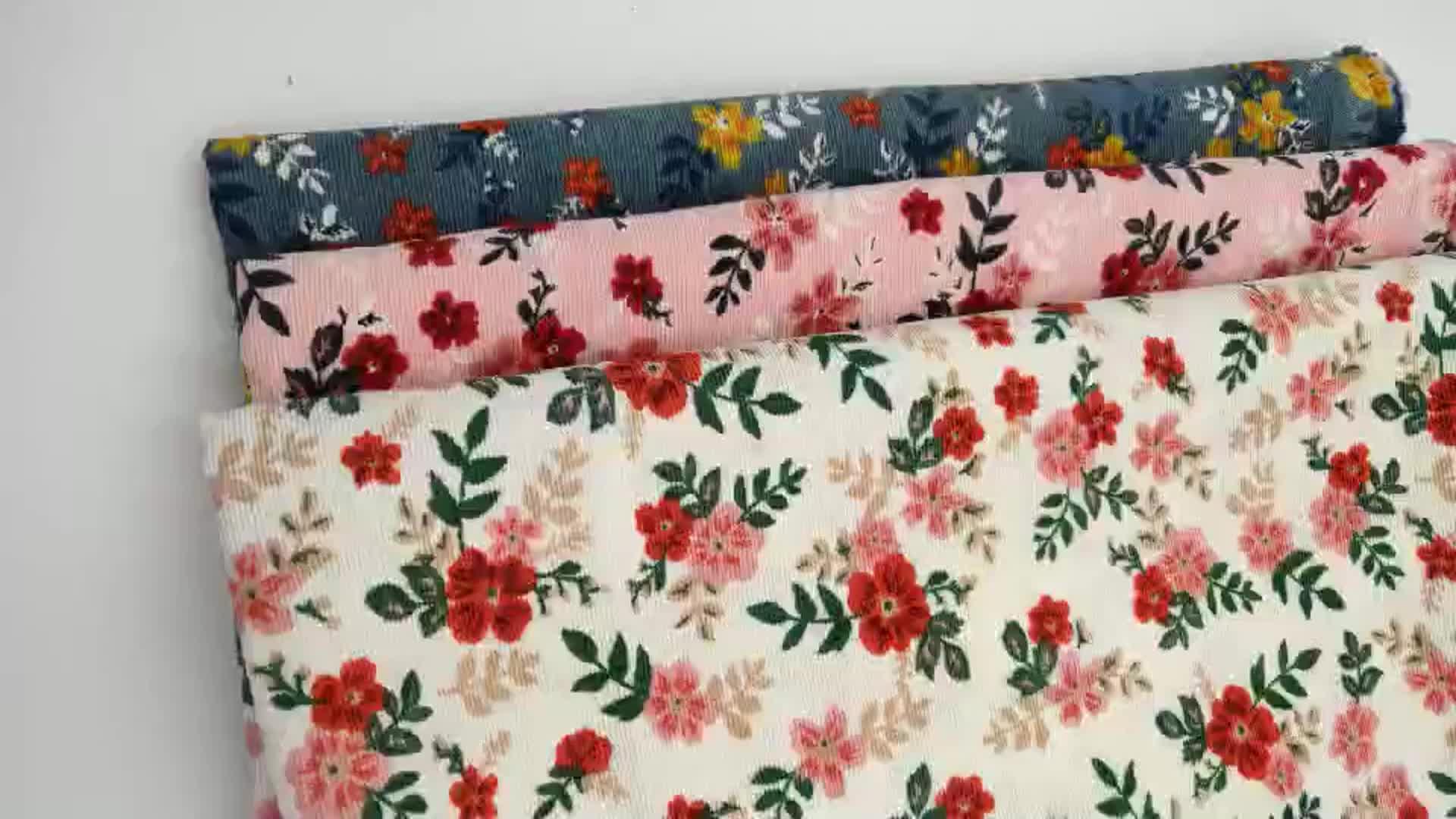 Nhà Cung Cấp Sang Trọng Châu Âu Flower Stretch 21W Cotton Vải To Sợi Vải