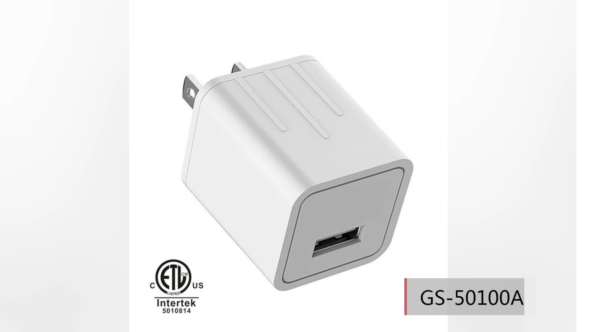 5V 2.1A Dual USB Wall Charger with ETL CE FCC Certified