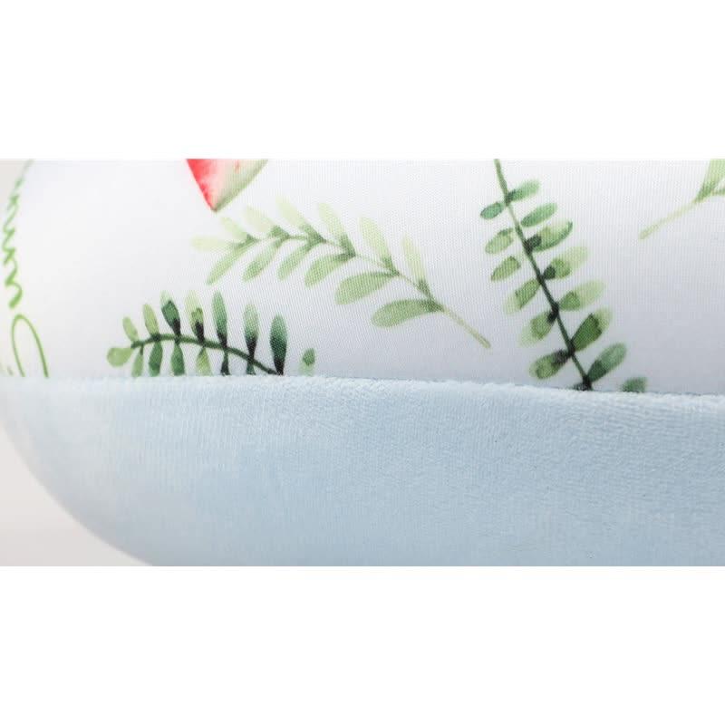 custom printing polystyrene  beads  travel rest  u shape neck pillow with eyemask