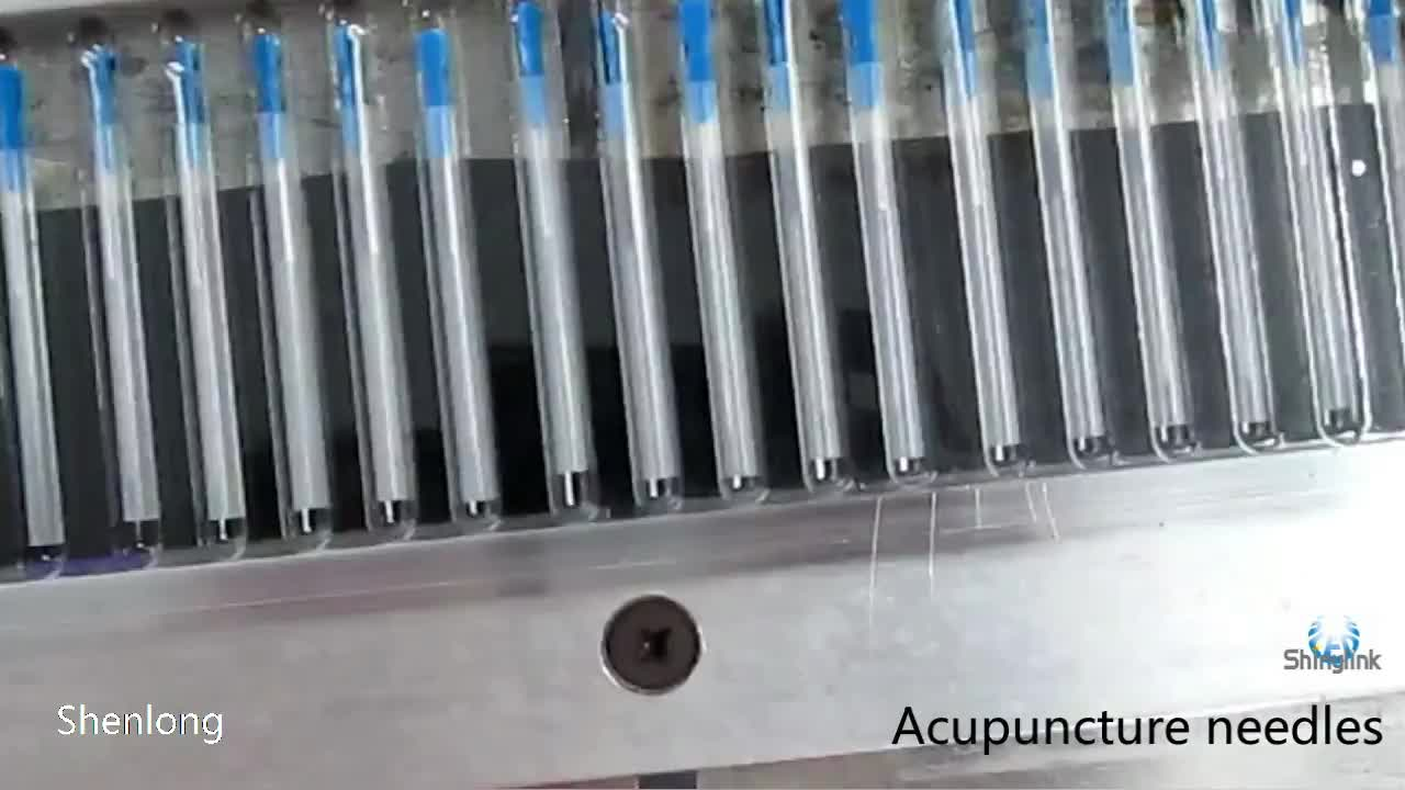 Gold plated handle Acupuncture Needles with tube CE & ISO