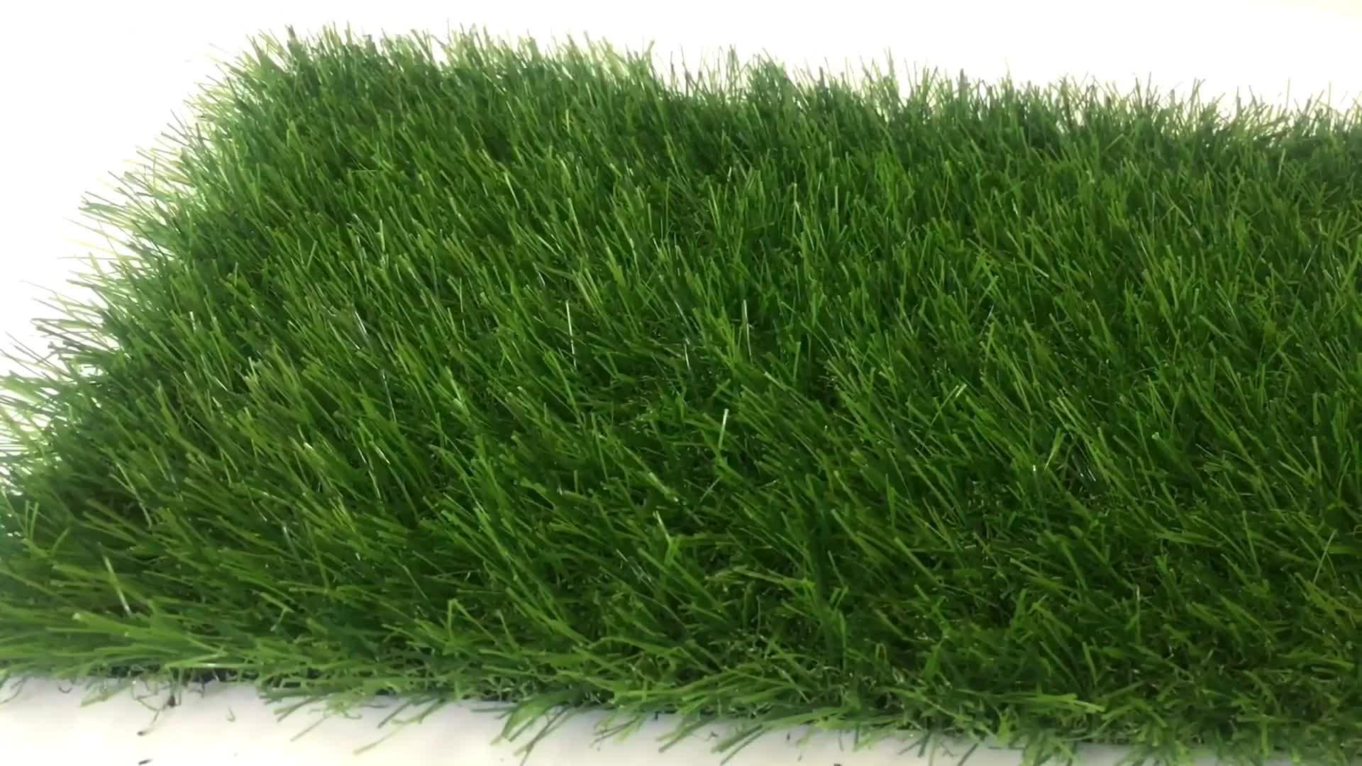 Anti-uv 25 millimetri di erba artificiale di sicurezza non statica tappeto erboso erba