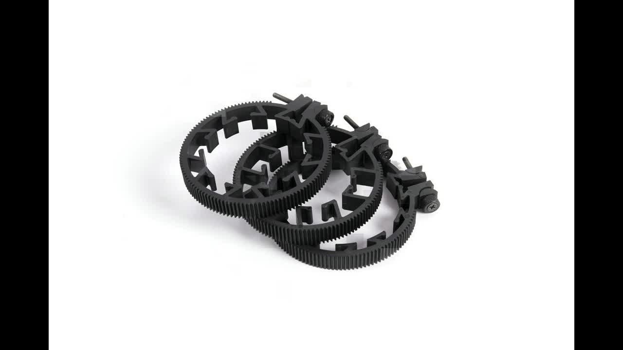Wholesale 3 size Plastic Lightweight Universal Flexible Adjustable Camera Lens Gear Kits Follow Focus Ring DSLR