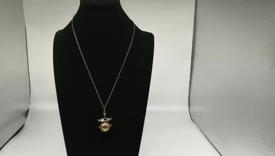 locket wing cage couple ball chain necklace diffuser necklace