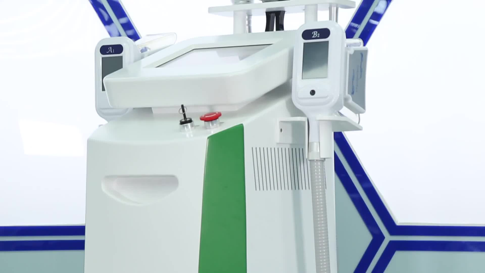 Best selling cavitation rf vacuum cryolipolysis with 2 cryo handle fat removal machine 2018