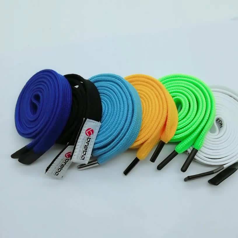 Wholesale durable flat cotton cord with metal ends,drawstring cords for hoodie