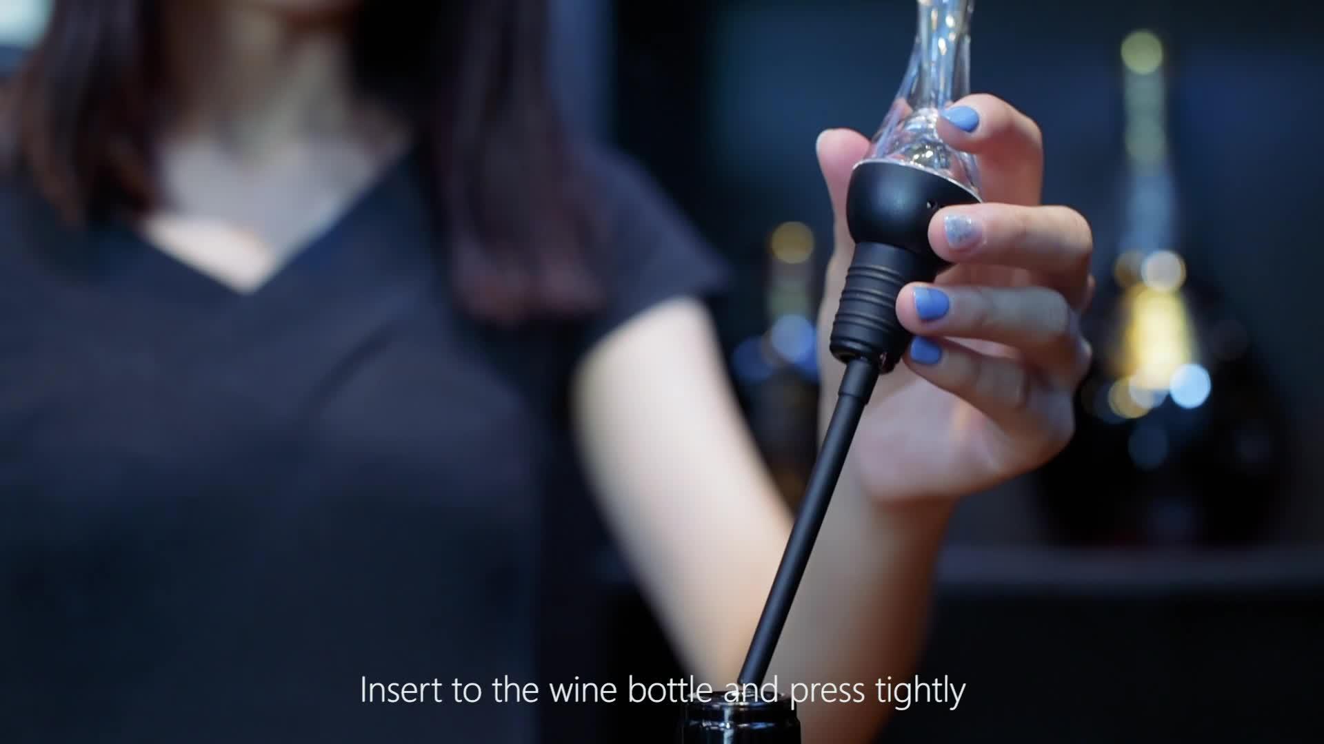 ה-FDA & LFGB אמזון למעלה מוכר 2019 פטנט לשתות מתנת יין Aerator Pourer יין לגין זרבובית יין סט מתנה