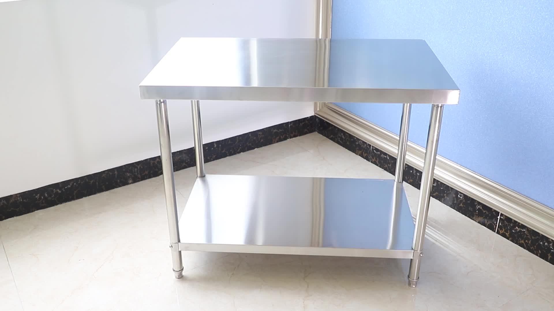 מלון מטבח שירות נירוסטה מוצק עבודה שולחן ספסל מטבח עבודת שולחן