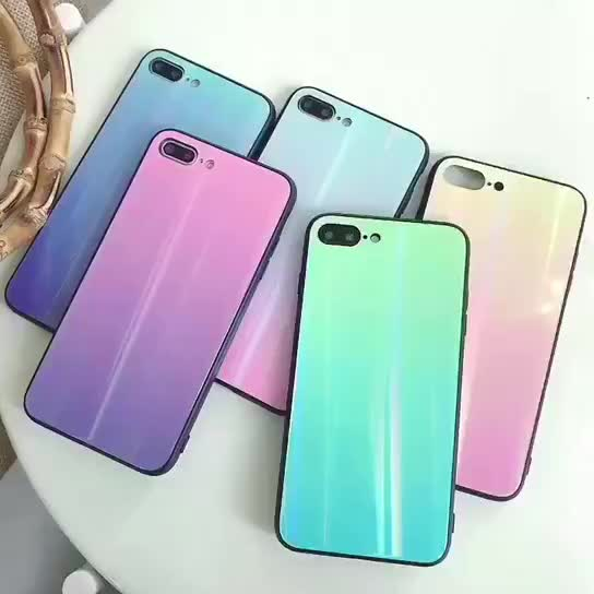 Tempered glass phone case,for iphone 8 case covers,mobile phone shell for iphone 8 case