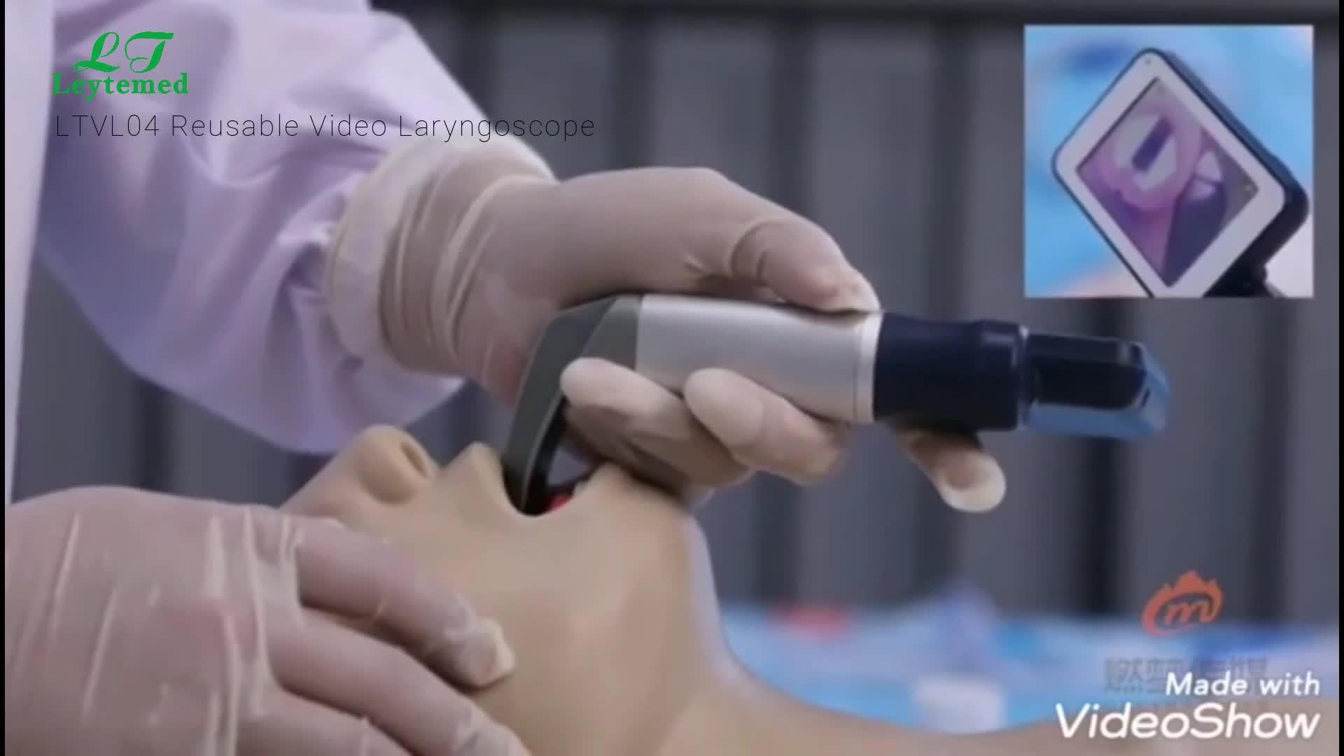 LTVL04 फैक्टरी मूल्य के साथ वीडियो Laryngoscope 6 पुन: प्रयोज्य ब्लेड