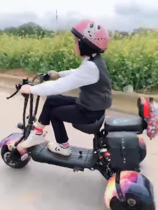 800w kids mini citycoco foldable fat tire 3 wheel electric scooter/ children electric scooter tricycle/motorized tricycle