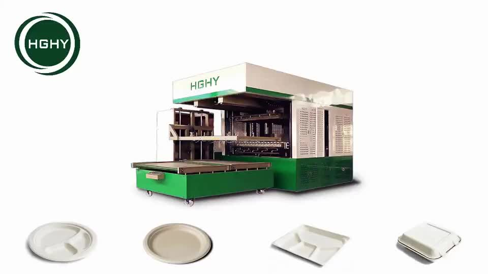 Auto Thermoforming paper plate All-in-one Machine