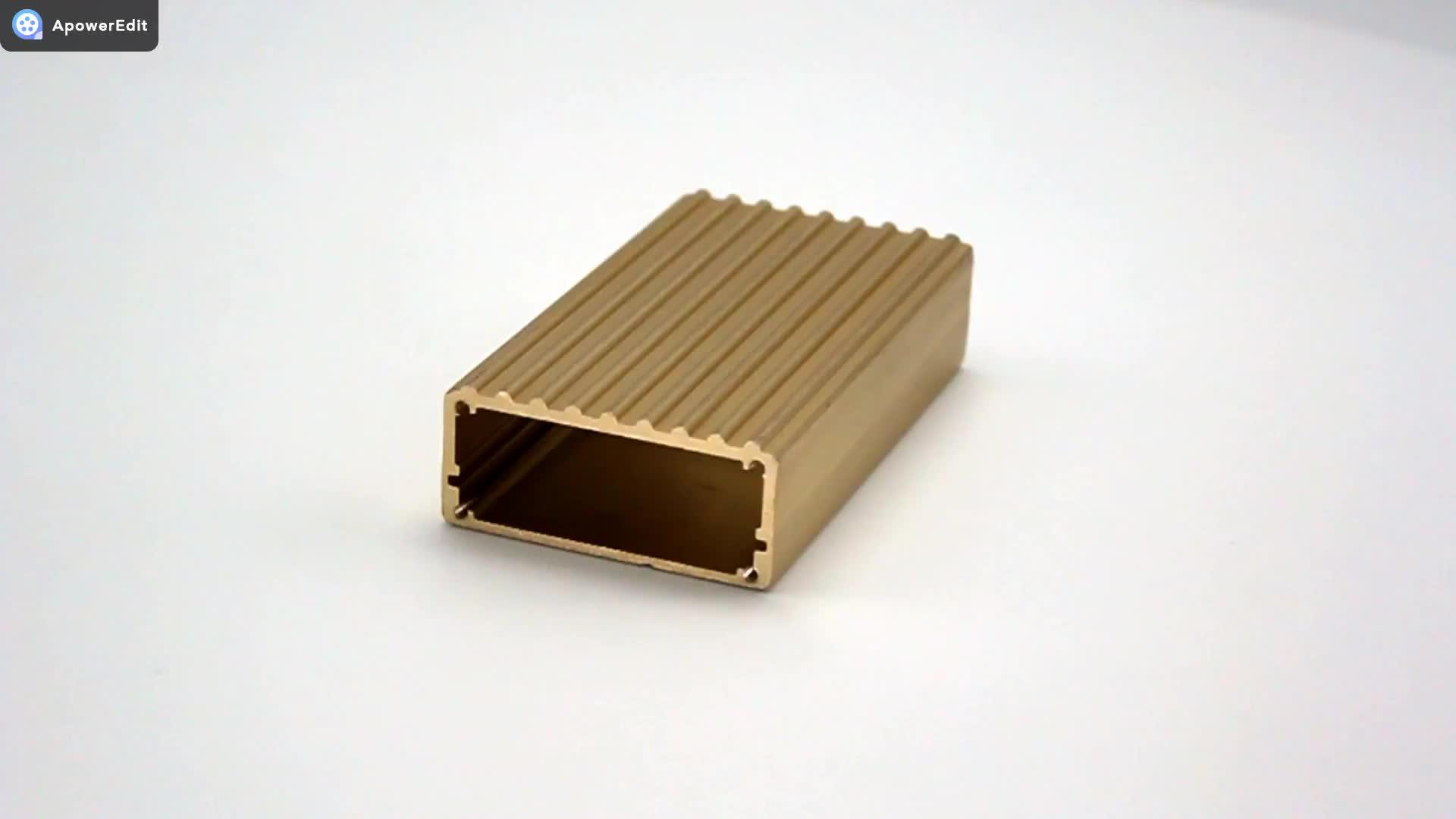 Ekstrüde Alüminyum Muhafaza Enstrüman Kutusu DIY Amplifikatörler Elektronik Proje Çantası