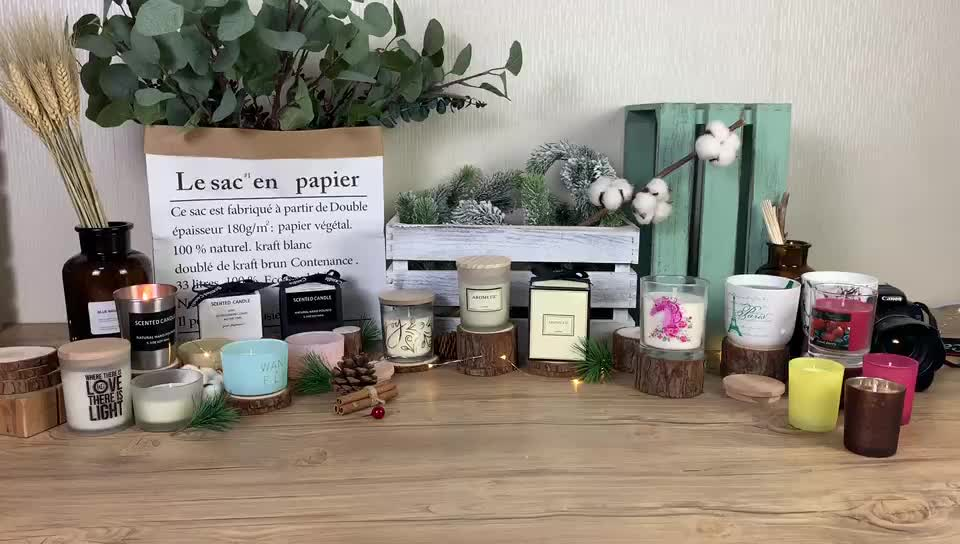 Natural 향 대 한 special 장식 아로마 양 green small candle