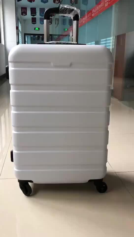 OEM marque mettre votre logo ABS 3 Pièce cool Bagages Spinner roues valise légère