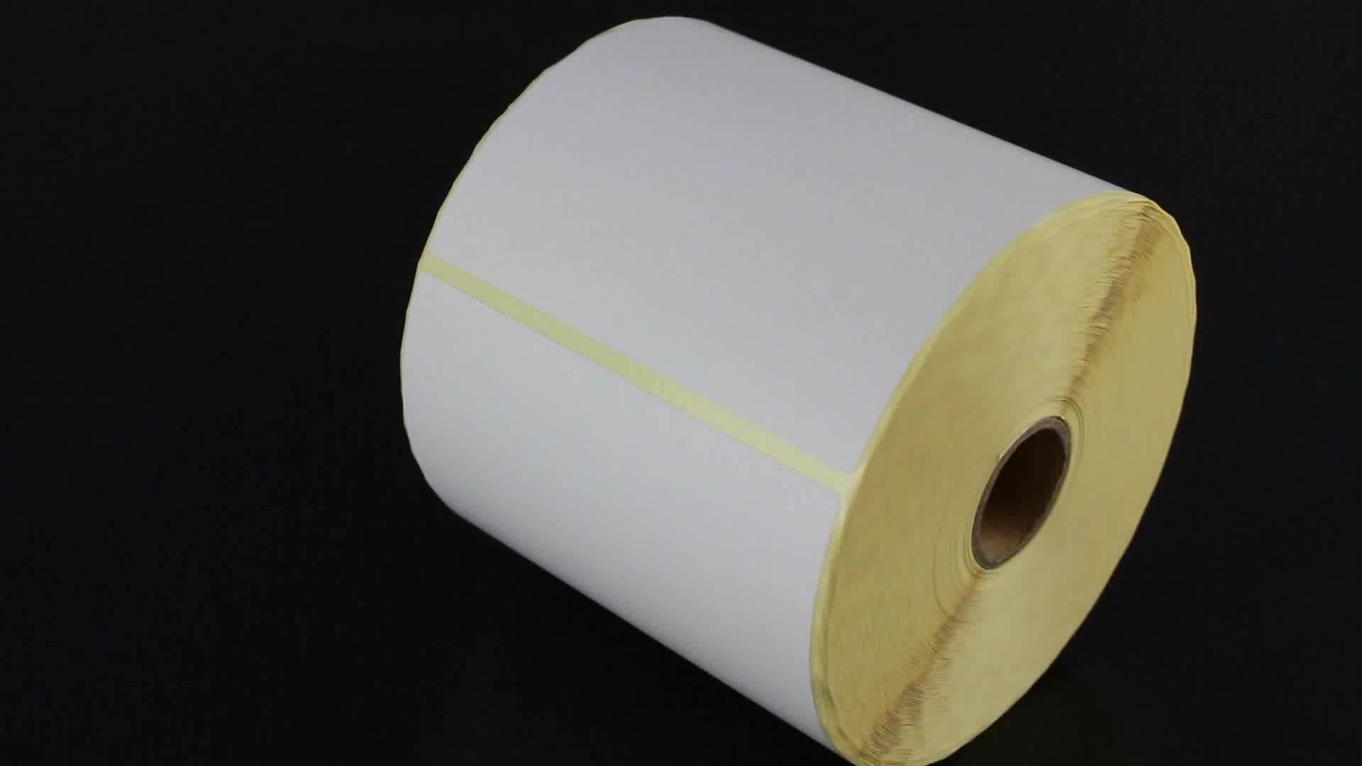 सुपरमार्केट के लिए स्वयं चिपकने वाला निविड़ अंधकार बारकोड कीमत लेबल स्टीकर रोल थर्मल प्रिंटर