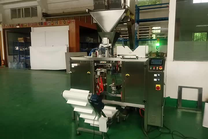 Semi automatic pet food  linear weigher filling and doypack packing machine