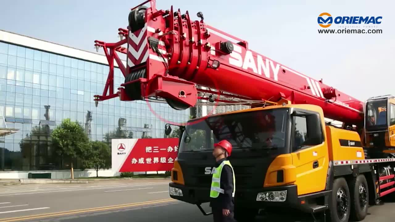 SANY 75 Tons Mobile Hydraulic Boom Truck Mounted Crane STC750A