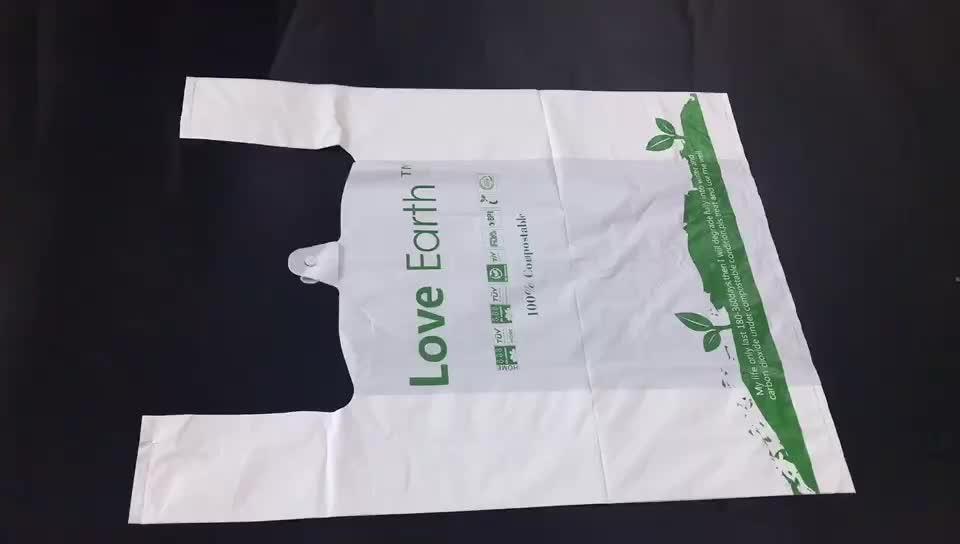 Food Grade Individuell Bedruckte Wärme Dichtung PBAT Transparent 100% Biologisch Abbaubaren Kunststoff Tasche