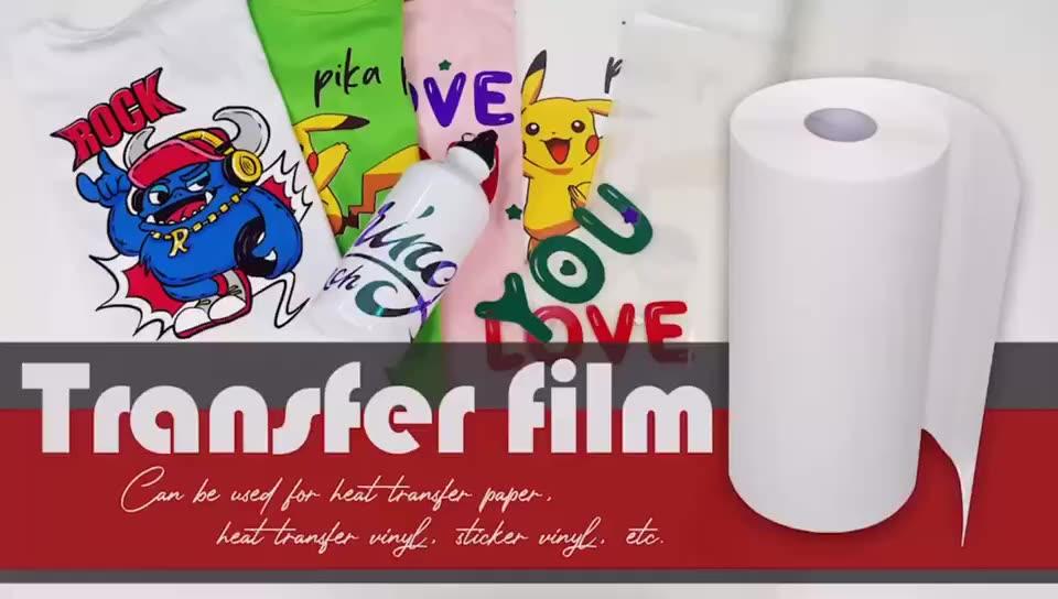 Ocbestjet 60CM*100M PET DTF Film Inkjet Pet Heat Transfer 75U Thickness Double-sided Release PET FILM TRANSFER ROLL