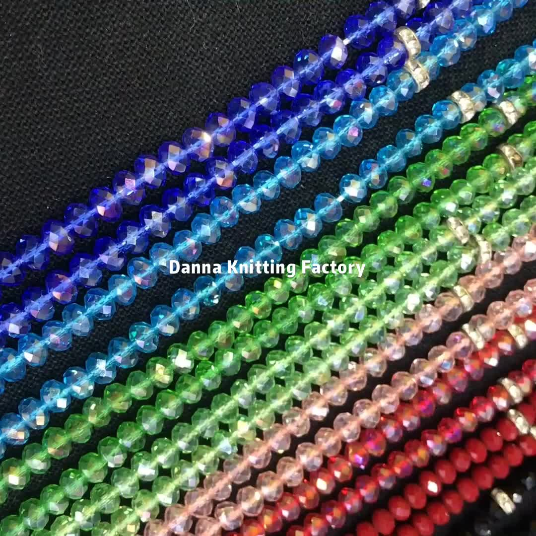 Islamic Rosary Crystal Material 8mm Shining All Colors 99 Prayer Beads
