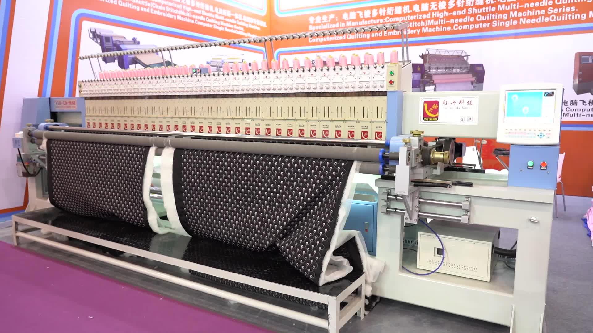 Máquina de bordar computadorizada Multi-cabeça Máquina Estofando do Bordado para o cobertor
