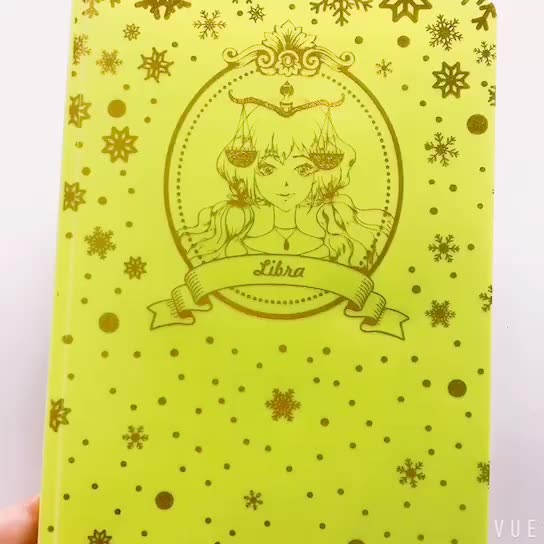 Holi fast delivery no MOQ PP full hot stamping constellation softcover notebooks journals