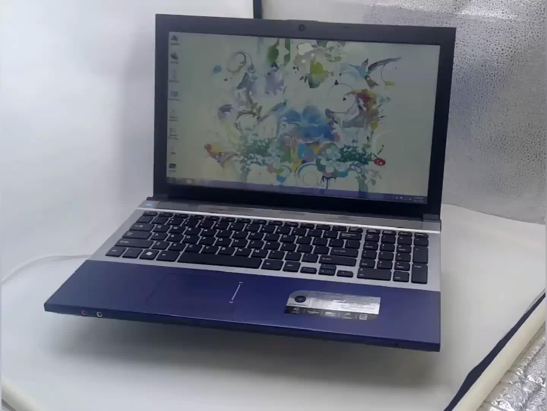 2020 도매 코어 i7 노트북 게임 컴퓨터 15.6 인치 최대 8G 16G Ram 1 테라바이트 2 테라바이트 HDD 512G SSD 금속 커버 DVD RW