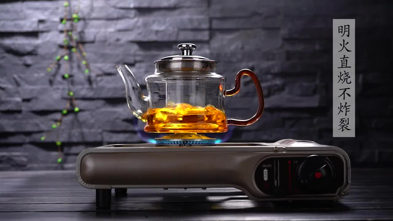 Clear Glass Teapot CookJoy Tea Maker with Tea Infuser, 304 Stainless Steel Infuser&Lid Tea Pot 500ml Borosilicate Glass