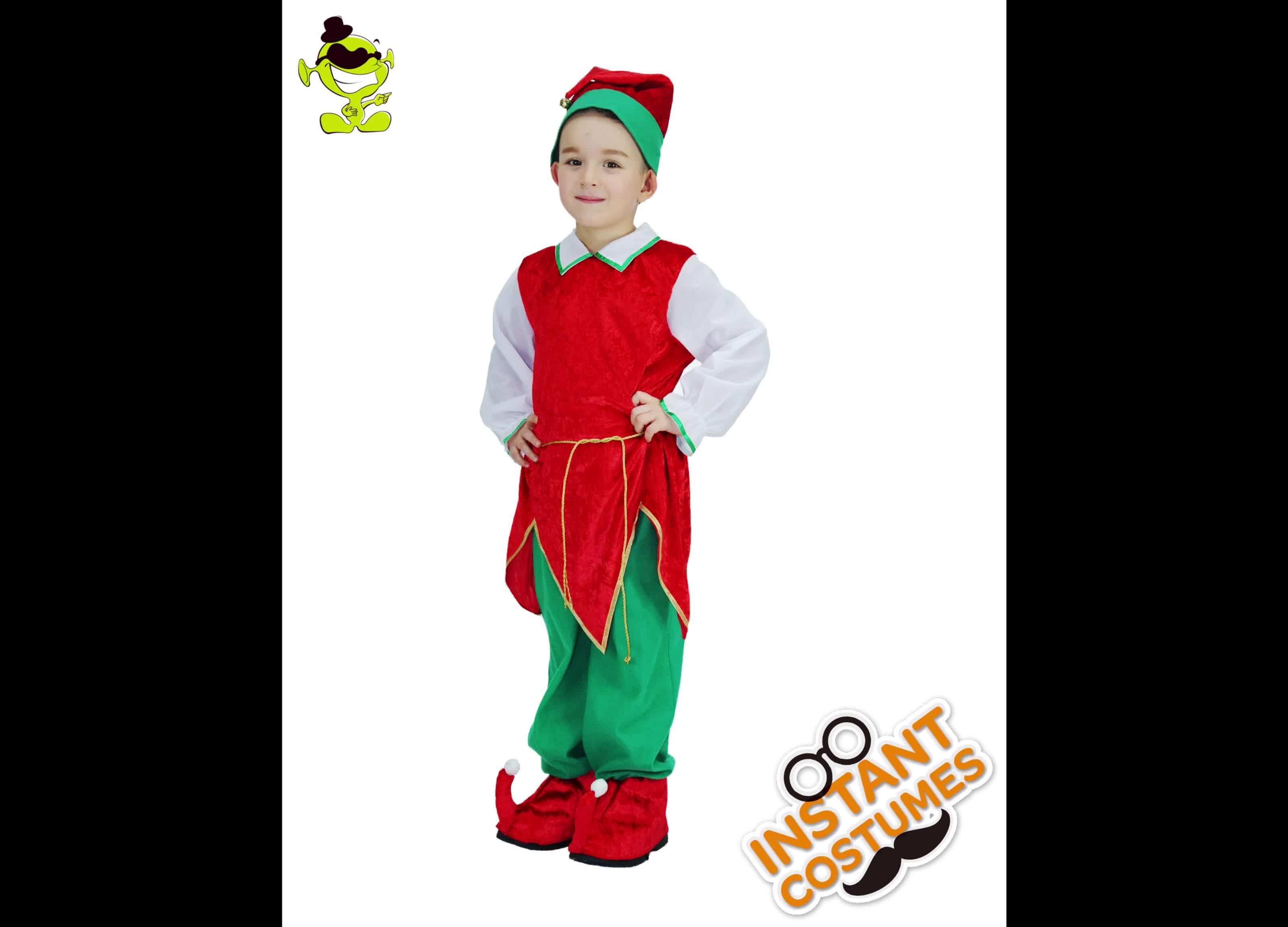 をベストセラーかわいい安い子供エルフ衣装クリスマスの日のため