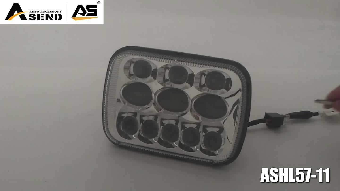 69W 7x6 5x7 Inch Square Rectangular LED Headlight for Car Truck 4WD Offroad Vehicles