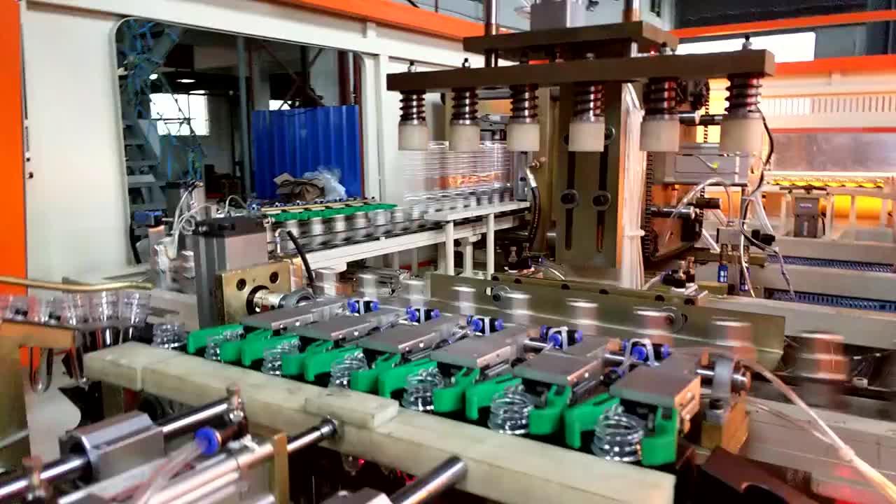 Fully automatic PET 6 cavity bottle machinery