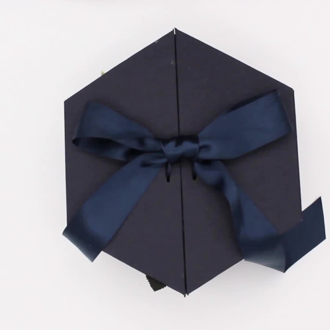 custom cardboard paper packaging satin lined gift boxes wedding gift Box cosmetics boxes luxury packaging with Ribbon