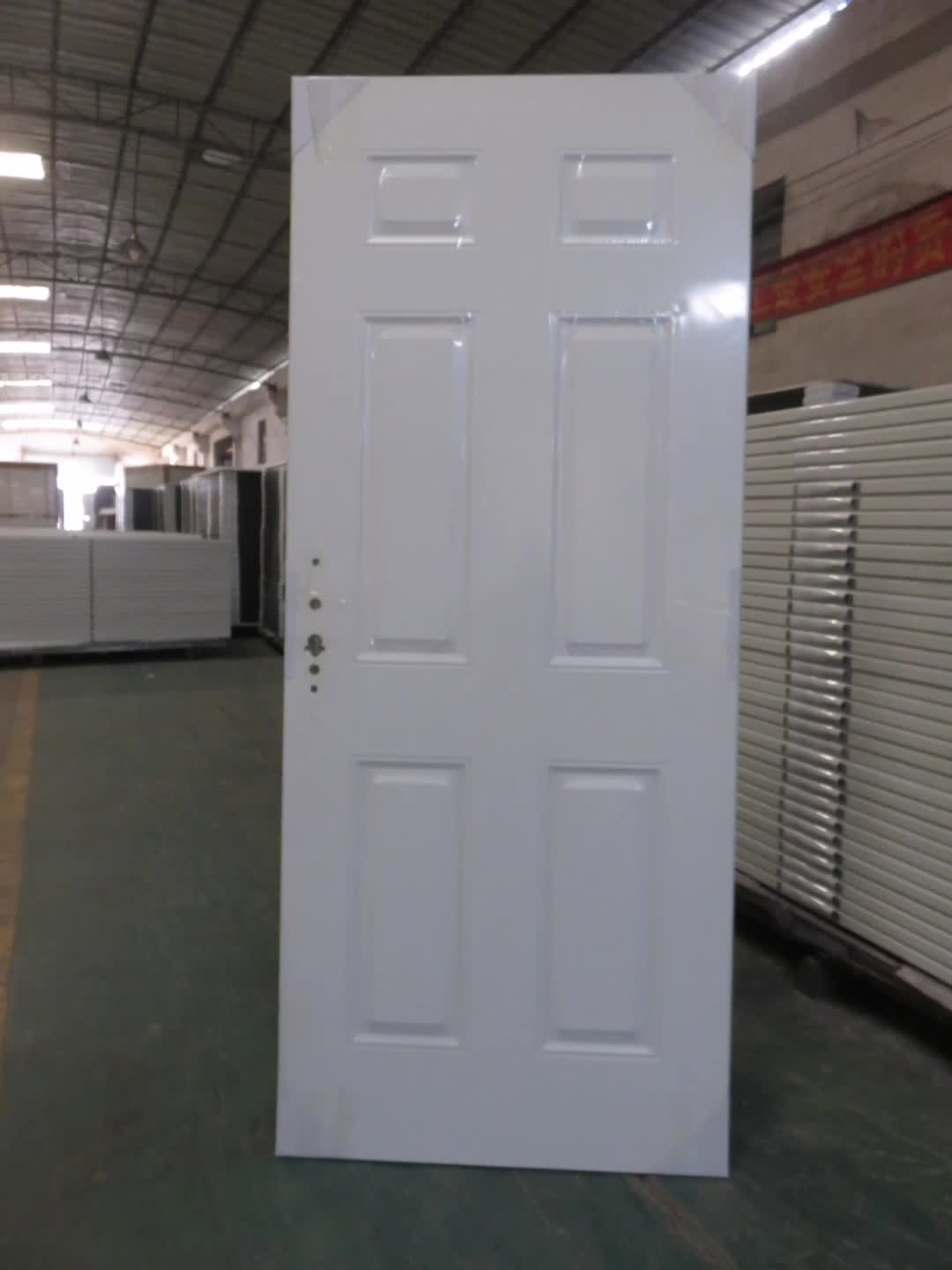 China wholesale finished steel doors Solid wooden edge Interior Door used for sale