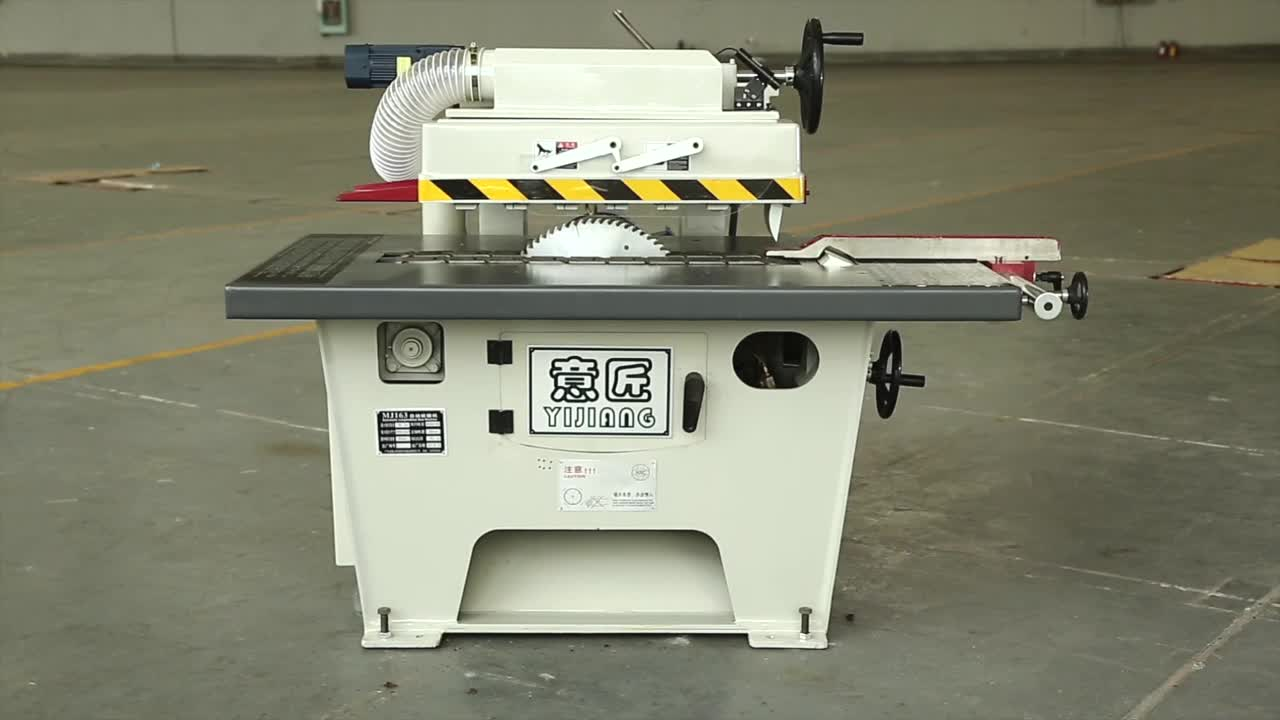 Hot Sale woodworking machinery MJ163 Automatic Feeding High Precision straight line Rip Saw Machine from China