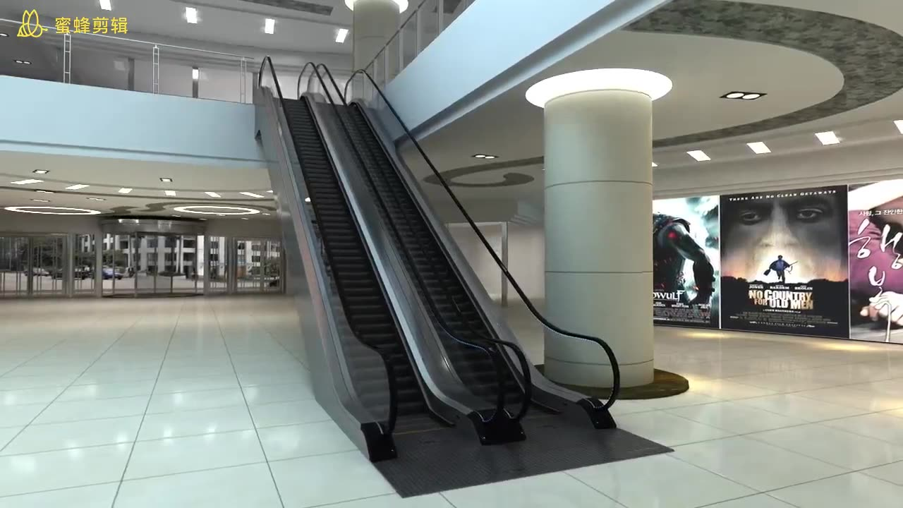 0 degree moving walk for the airport and shopping mall indoor moving walk VVVF escalator