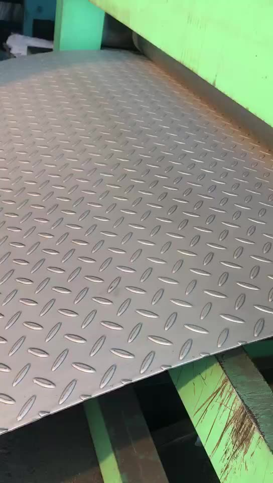 S235JR Hot rolled mild steel 2.5 mm thick chequered steel plate