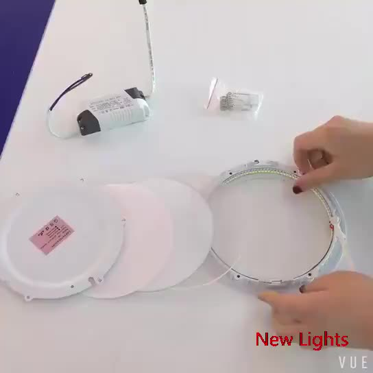 Hot Selling 18W 85-265V 1440LM Round Recessed Small Led Panel Light Ceiling 18w