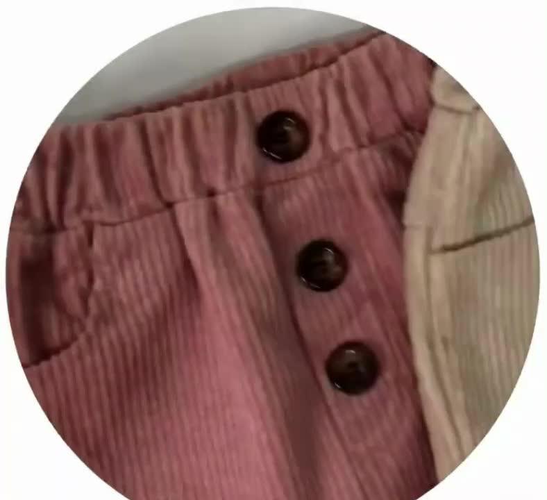 Q2-baby 新しい韓国風の男の子ズボンファッションコーデュロイ長ズボン