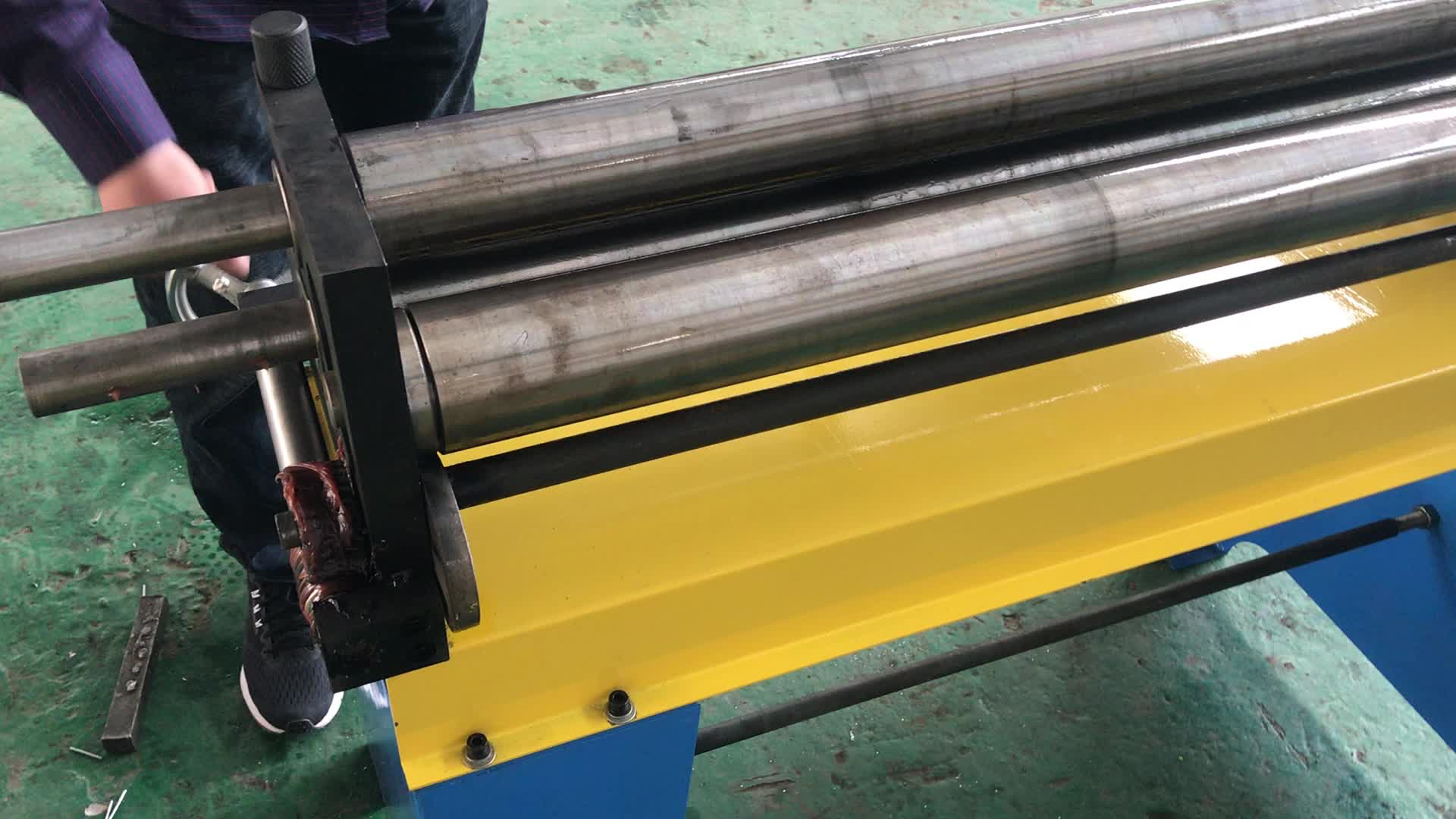 Hvac duct electric three small roller bending machine