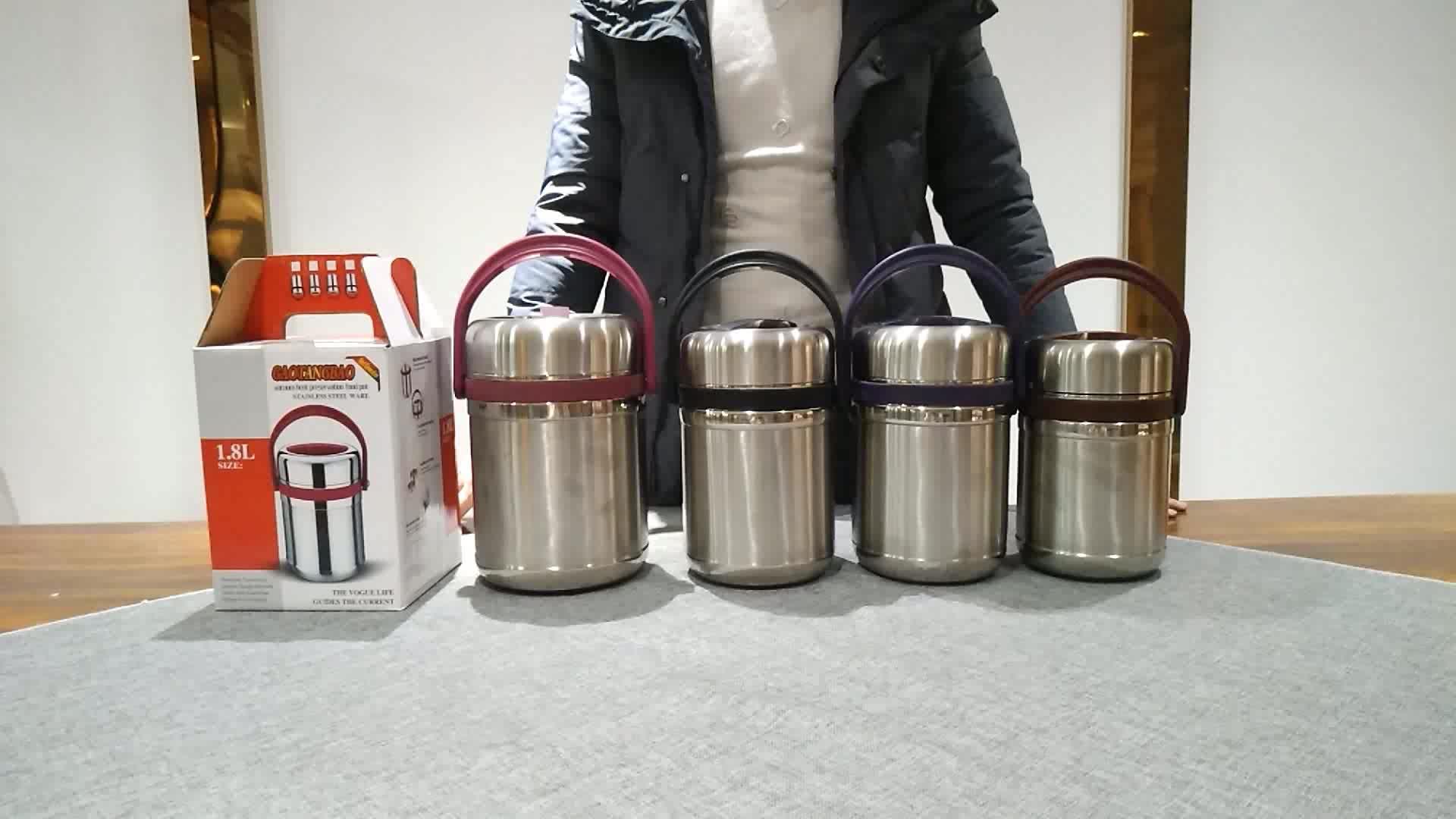 HG nieuw product goede kwaliteit rvs tiffin pot warm houden pot