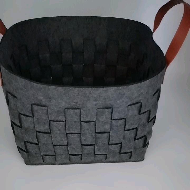 Alibaba china online shopping woven felt storage laundry basket