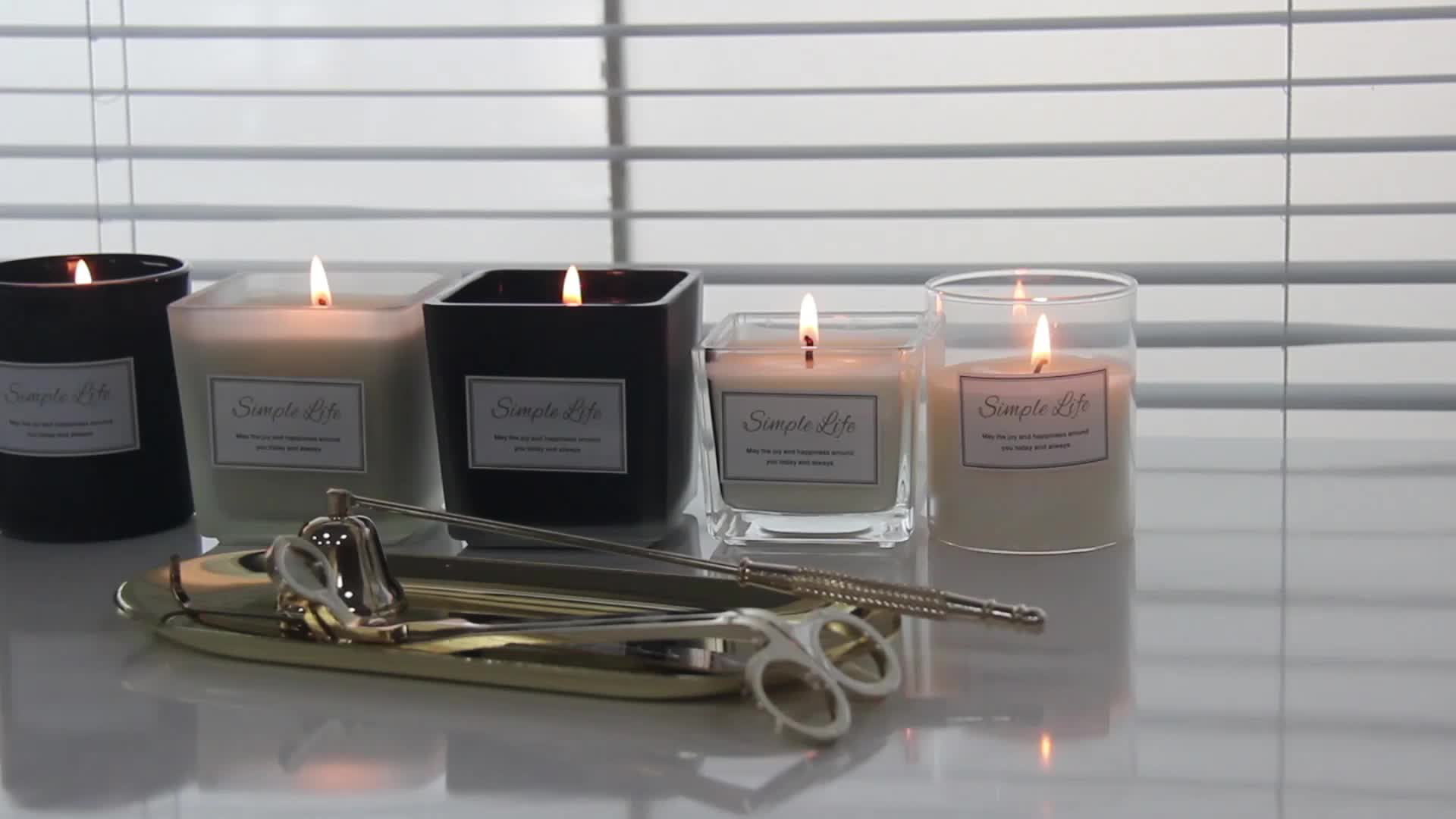 Smokeless Natural Aromatherapy Frosted Scented Candle Soy Wax Romantic Candle Jars