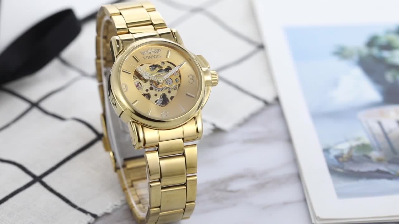 Mother Day Gift Ladies Watch Wrist Classic Mechanical Small Face Fashion Women Automatic Movement Skeleton Elegance for Woman