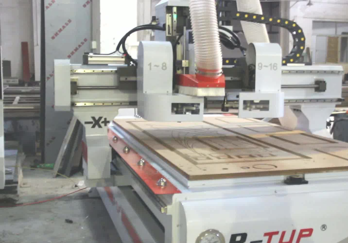 9kw HSD Spindle auto tool changer ATC CNC router wood machine 1325