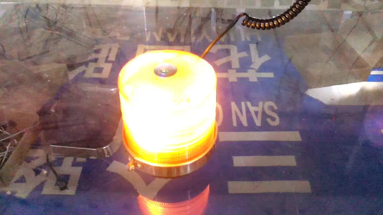 Led otomobil araç manyetik monte polis elektronik flaş ışığı uyarı