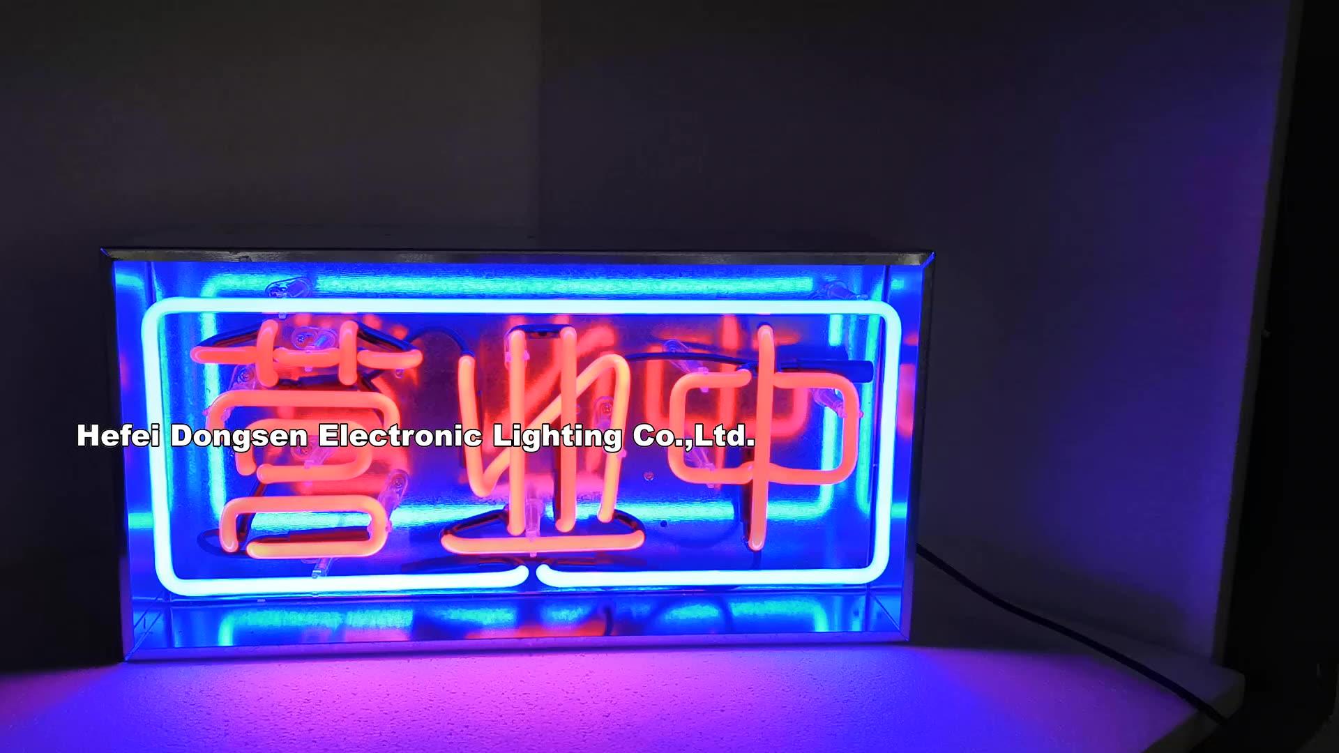 Restoran reklam Neon demir kutu Neon burcu ışık