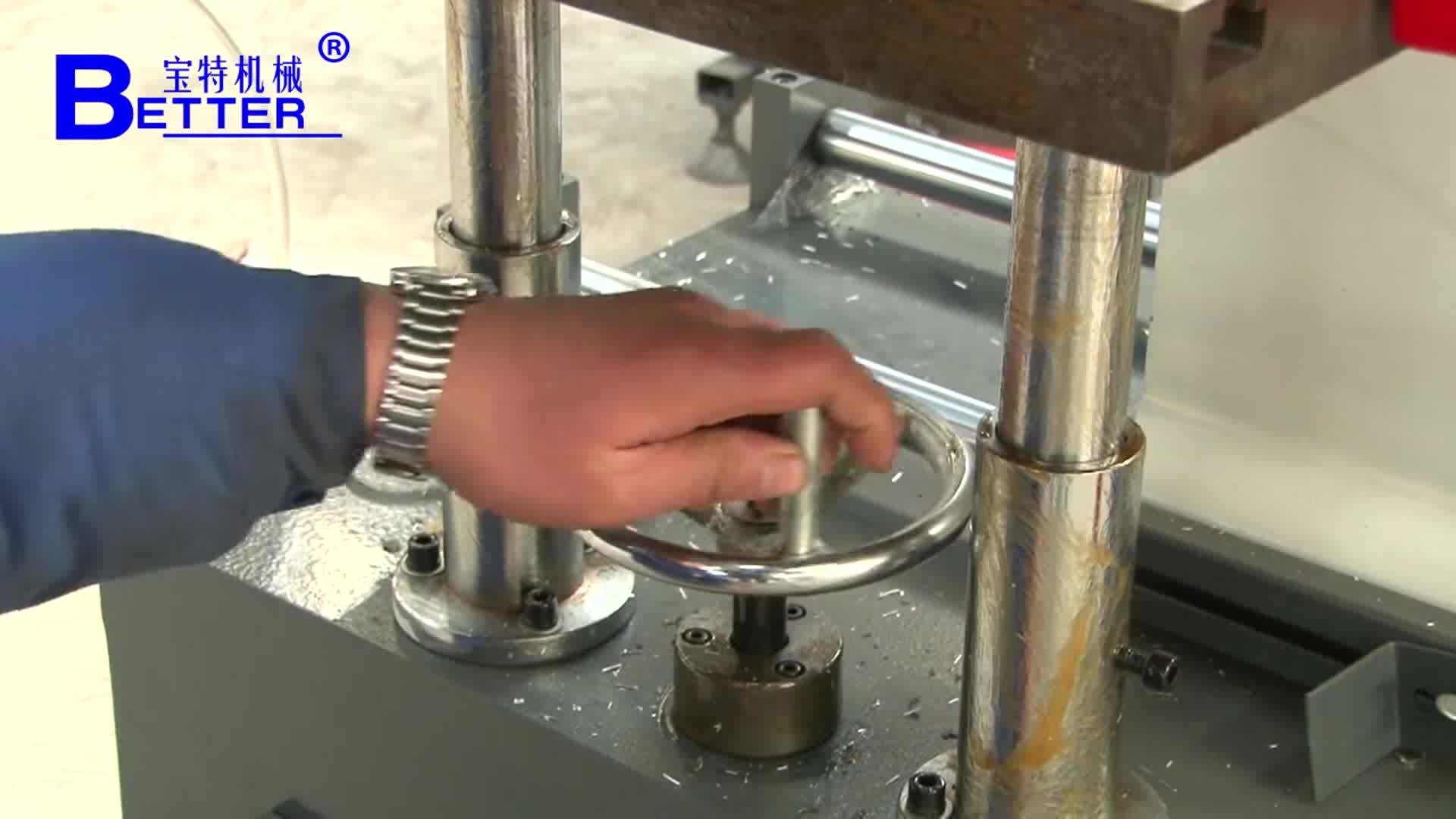 Aluminum profile milling machine