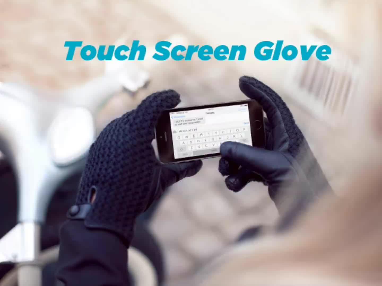 Aangepaste Logo Winter Warm Touchscreen Handschoenen